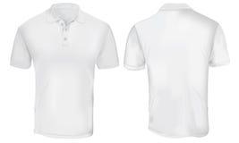 Polo Shirt Template blanco Imagenes de archivo