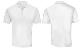 Polo Shirt Template branco Imagens de Stock