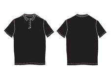 Polo shirt template. Front and back views. Royalty Free Stock Photo
