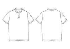 Polo shirt template. Front and back views Royalty Free Stock Photography