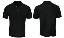 Polo Shirt Template nero Fotografia Stock