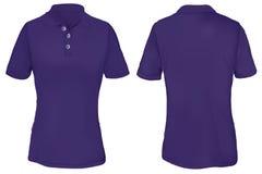Polo Shirt Template roxo para a mulher Imagens de Stock Royalty Free