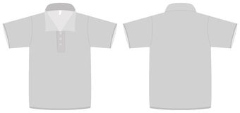 Polo shirt template vector illustration Stock Images