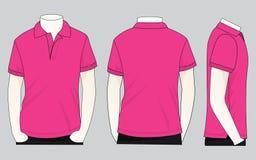 Polo Shirt Vecor rose pour le calibre illustration de vecteur