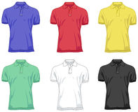 Polo shirts. In six different color versions vector illustration