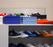 Polo shirts, clothes shop Royalty Free Stock Photo