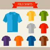 Polo shirts colored templates for your design in Royalty Free Stock Photos