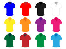 Polo Shirts Different Colours Royalty Free Stock Images