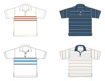 Polo-shirts, different models and colours. Four polo-shirts, different models and colours Royalty Free Stock Photography