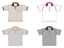 Polo-shirts, different models and colours. Four polo-shirts, different models and colours Stock Photos