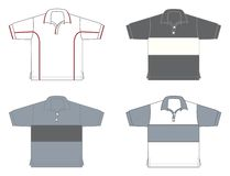 Polo-shirts, different models and colours. Four polo-shirts, different models and colours Royalty Free Stock Image