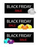 Polo Shirts en bandera de la venta de Black Friday Fotografía de archivo