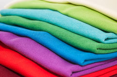 Polo shirts. Luxurious fine material 100% cotton polo shirts in various colors Royalty Free Stock Images