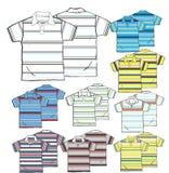 polo shirts outline Stock Image
