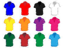 Polo Shirts Pencil Style 1 Stockbild