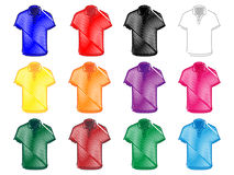 Polo Shirts Pencil Style 2 Stockfotografie