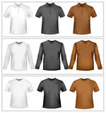Polo shirts and t-shirts. Royalty Free Stock Photo