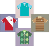 Polo Shirts vectors Royalty Free Stock Photo
