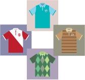 Polo Shirts vektorer stock illustrationer