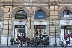 Polo shoppar i Palermo i Sicilien, Italien Royaltyfria Foton