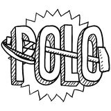 Polo sketch Stock Photo