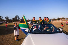 Polo South Africa Players Sponsor-Auto Shongweni Hillcrest stock afbeeldingen