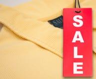 polo sprzedaży koszulowa etykietka Obrazy Stock