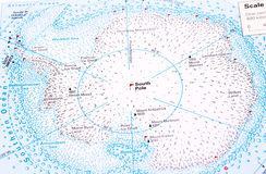 Polo Sud Fotografia Stock Libera da Diritti
