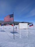 Polo Sud geografico e cerimoniale Fotografia Stock Libera da Diritti