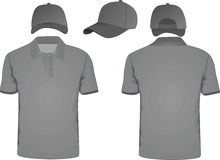 Polo t-shirt and baseball cap Stock Photography