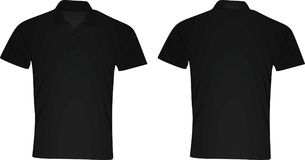Polo t shirt. front and back view Stock Photography