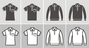 Polo t-shirt and jumper icon Royalty Free Stock Images