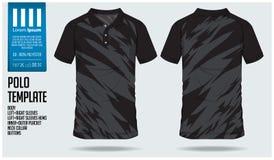 Polo t sporta projekta koszulowy szablon dla piłki nożnej bydła, futbolowego zestawu lub sporta klubu, Bawi się mundur w frontowy ilustracja wektor