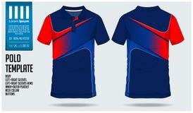 Polo t sporta projekta koszulowy szablon dla piłki nożnej bydła, futbolowego zestawu lub sporta klubu, Bawi się mundur w frontowy royalty ilustracja