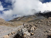 Polo Trekking na paisagem Himalaia alta na monção Fotografia de Stock