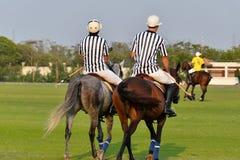 Polo umpires In The Horse Polo filed. stock photos