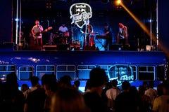 Polock (groupe pop indépendant) de concert au festival de BOBARD photographie stock libre de droits