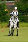 Polocrosse Spieler mit Pferd Stockbild