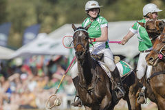 PoloCrosse World-Cup Horses Women Ireland royalty free stock image