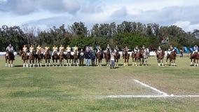 Polocrosse Zuid-Afrika versus Australië (U16) Royalty-vrije Stock Foto's