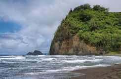 Pololu beach view in Big island Royalty Free Stock Photo