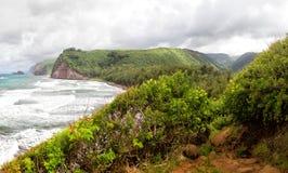 Pololu dal, stor ö, Hawaii Arkivfoton