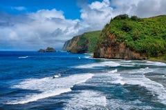 Pololu dalsikt i Hawaii Royaltyfri Fotografi