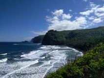 Pololu valley look out. View from thw top of pololu valley on the big island hawaii Stock Photo