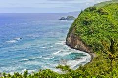Pololuvallei Hawaï stock foto's