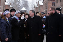 'Polonês aw Komorowski do presidente BronisÅ, aniversário 7oth da libertação no concentraction de Nazi German Fotografia de Stock Royalty Free