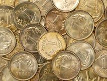 Polonês moedas de um grosz Foto de Stock