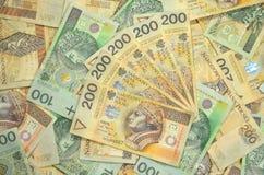 Polonais billets de banque d'un et deux cents zloty Images stock