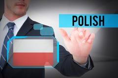 Polonais contre la pièce blanche abstraite Image libre de droits