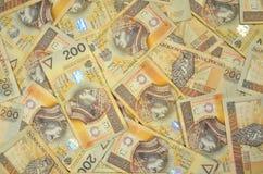 Polonais deux cents billets de banque de zloty Photographie stock